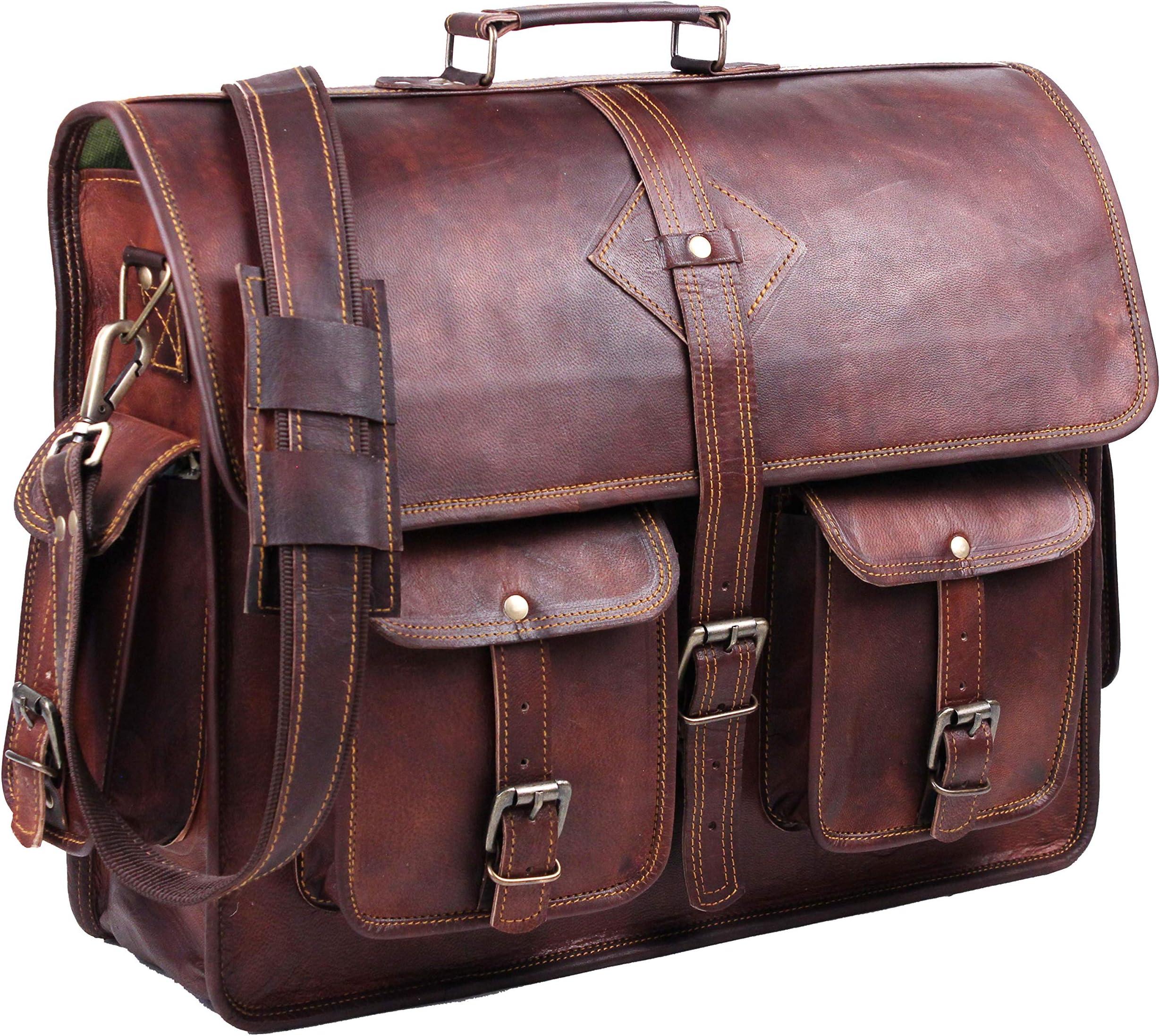 Laptop Bag Large Handbag 15 Inch Laptop Bag Rustic Briefcase  Men women Briefcase
