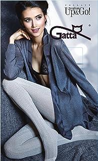 Gatta Fashion Cotton Up&Go 11 - gemusterte blickdichte Strumpfhose aus Baumwolle im Fischgrätendesign