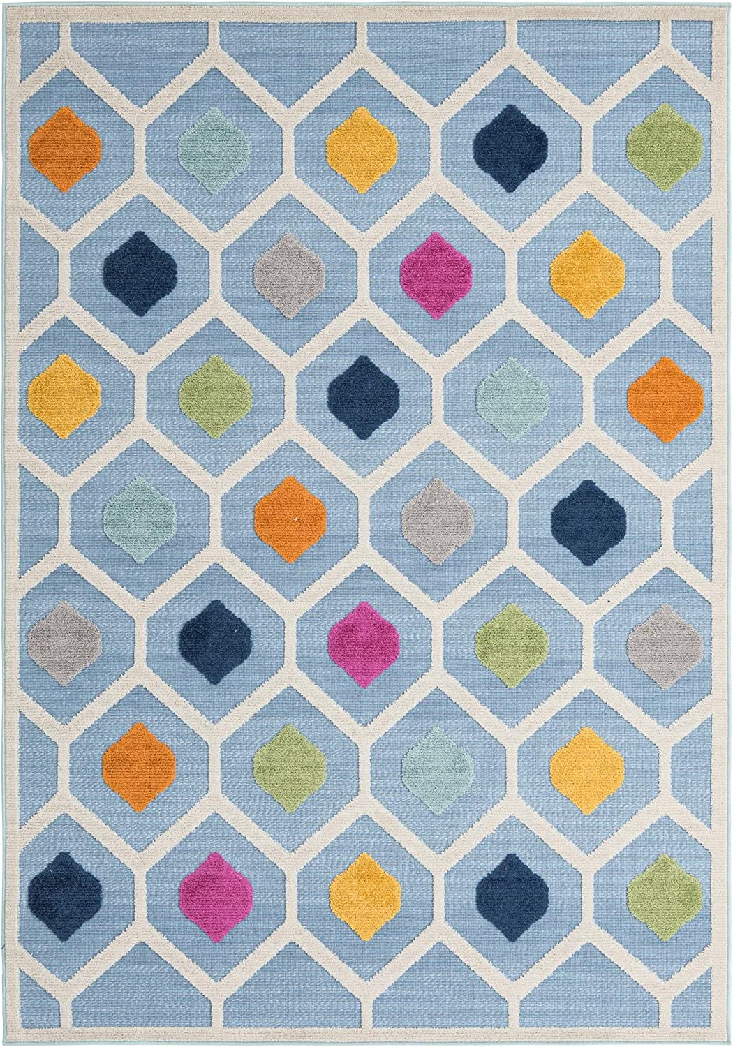 Rugs.com Aruba Outdoor Collection Rug Max Louisville-Jefferson County Mall 68% OFF – x Ru 6' Blue 9' Low-Pile