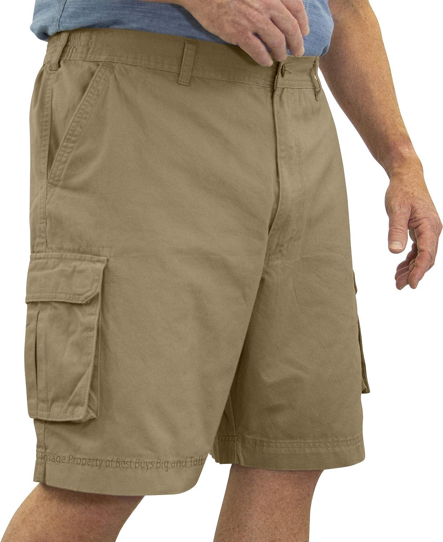 ROCXL Cargo Shorts with Expandable Waist Size 68 Khaki Brown #657G