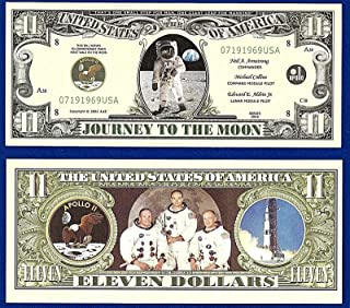 American Art Classics Apollo 11 Commemorative Million Dollar Bill Limited Edition Collectible Novelty Dollar Bill in Currency Holder - Best Gift