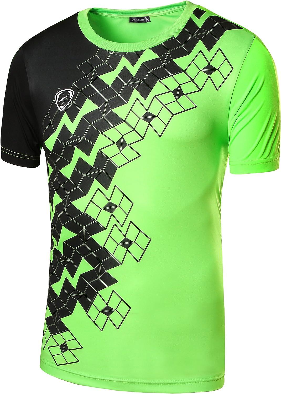 jeansian Herren Sportswear Quick Dry Short Sleeve T Shirt LSL20