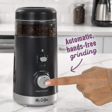 Mr. Coffee Multi-Grind 12-Cup Automatic Coffee Grinder, Black