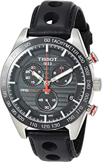 Tissot mens PRS 516 Chrono Stainless Steel Casual Watch Black T1004171605100
