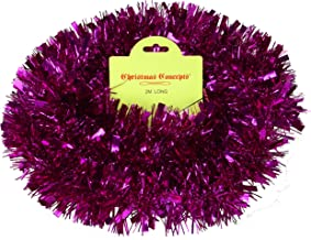 Christmas Concepts 2 Metre Various Colour Chunky/Fine Christmas Tinsel - Christmas Decoration - High Quality Tinsel (Hot P...