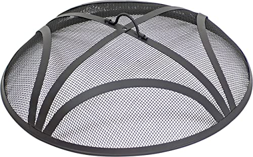 new arrival Sunnydaze sale Reinforced Steel Mesh Spark Screen - Outdoor Heavy-Duty Round Fire Screen with Ring 2021 Handle - Durable Black Metal Mesh Design - Patio Fire Pit Accessory - 22-Inch Diameter online