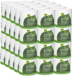 Seventh Generation White Toilet Paper 2-ply 100% Recycled Paper 500 Sheets - Pack of 60