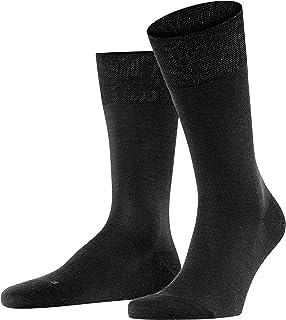 FALKE Socken Sensitive Berlin Schurwolle Baumwolle Herren schwarz grau viele weitere Farben verstärkte Herrensocken ohne Muster atmungsaktiv einfarbig für Diabetiker mit Komfortbund 1 Paar