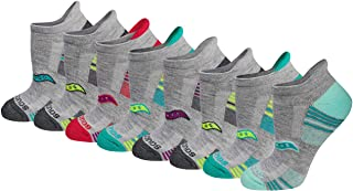 Saucony Women's Performance Heel Tab Athletic Socks (8 & 16 Packs)