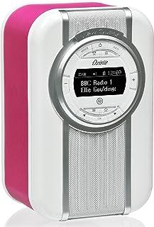 VQ Christie DAB & DAB+ Digital Radio with FM, Bluetooth/NFC, Alarm Clock, Rotating Display & Enamel Fascia – Pink
