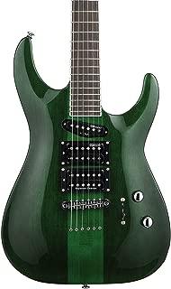 ESP LTD SC-20 Signature Series Stephen Carpenter Electric Guitar with Case, See Thru Green