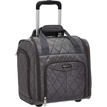 Amazon Basics Underseat Luggage, Grey Quilted