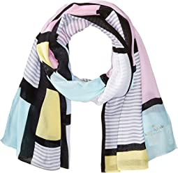 Kate Spade New York - Color Block Oblong Scarf