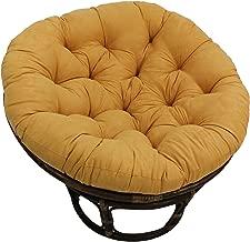 yellow papasan cushion