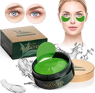 ماسک سبز چای سبز | بهترین پلاگین های کلاژن برای خطوط زیبا، چین و چروک | تحت کیسه های چشم و درمان خطوط پف | پد ژل ضد پیری | محافل تاریک صورت و خستگی، مراقبت از پوست Saggy