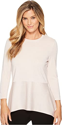 Ivanka Trump - Metallic Knit Long Sleeve Peplum