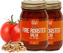 Green Jay Gourmet Fire Roasted Salsa - Medium Heat Picante Salsa with Fire Roasted Tomatoes, Jalapeno, Chipotle Peppers - Gourmet Salsa Dip - Gluten-Free, Small Batch Natural Salsa Sauce - 34 Ounces