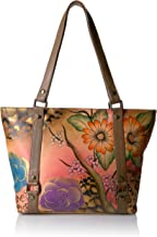 Anna by Anuschka Women's Genuine Leather Medium Cross-Body Handbag | Zip-Top Multi-Compartment Organizer