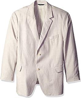 Perry Ellis Men's Linen Two-Button Notch Lapel Jacket