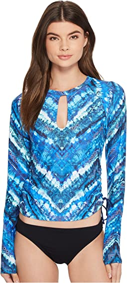 Lucky Brand - High Tides Adjustable Long Sleeve Rashguard