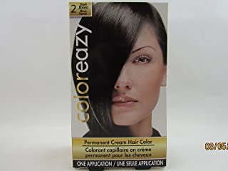 ColorEazy Permanent Cream Hair Color 2 Dark Brown - 3.47 oz,(De La Ritz)