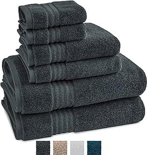 TRIDENT Large Bath Towels 100% Cotton, 6 Piece Set -2...