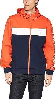 Men's Retro Colorblocked Hooded Track Jacket