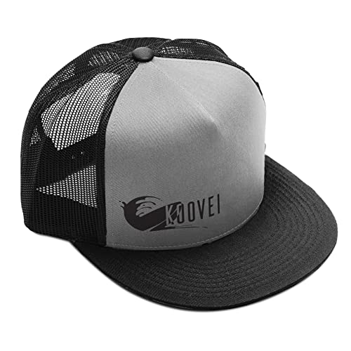 Trucker Hat by Koovei Streetwear - Navy and White Classic Surf Flat Brim Adjustable Snapback for