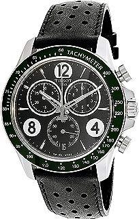Tissot V8 T106.417.16.057.00 Black Leather Analog Quartz Men's Watch