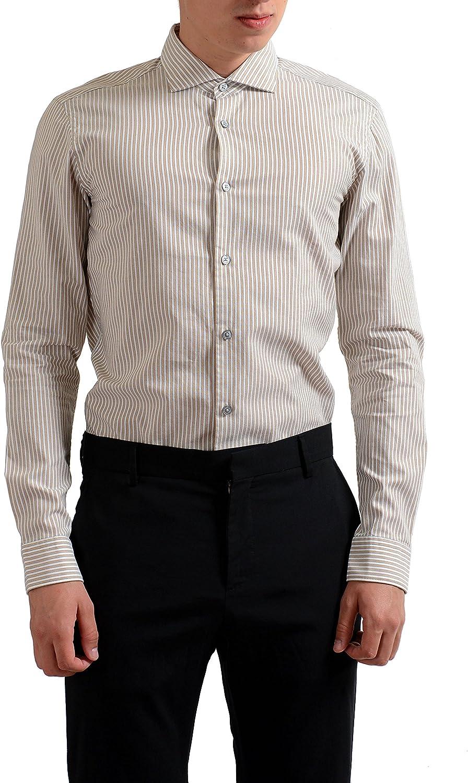 2654bc3311 Hugo Boss Ridley-4F Slim Fit Long Sleeve Men's Casual Shirt US M IT 50  1b334d