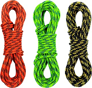 GM CLIMBING Double Braid 3mm (1/8in) Low Stretch 400lb Strength Accessory Cord for Outdoor Activities Tent Tarp Hammock Guyline Rigging Hunting Backpacking Survival