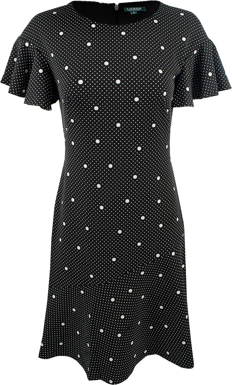 Lauren Ralph Lauren Women's Petite Fit & Flare Dress