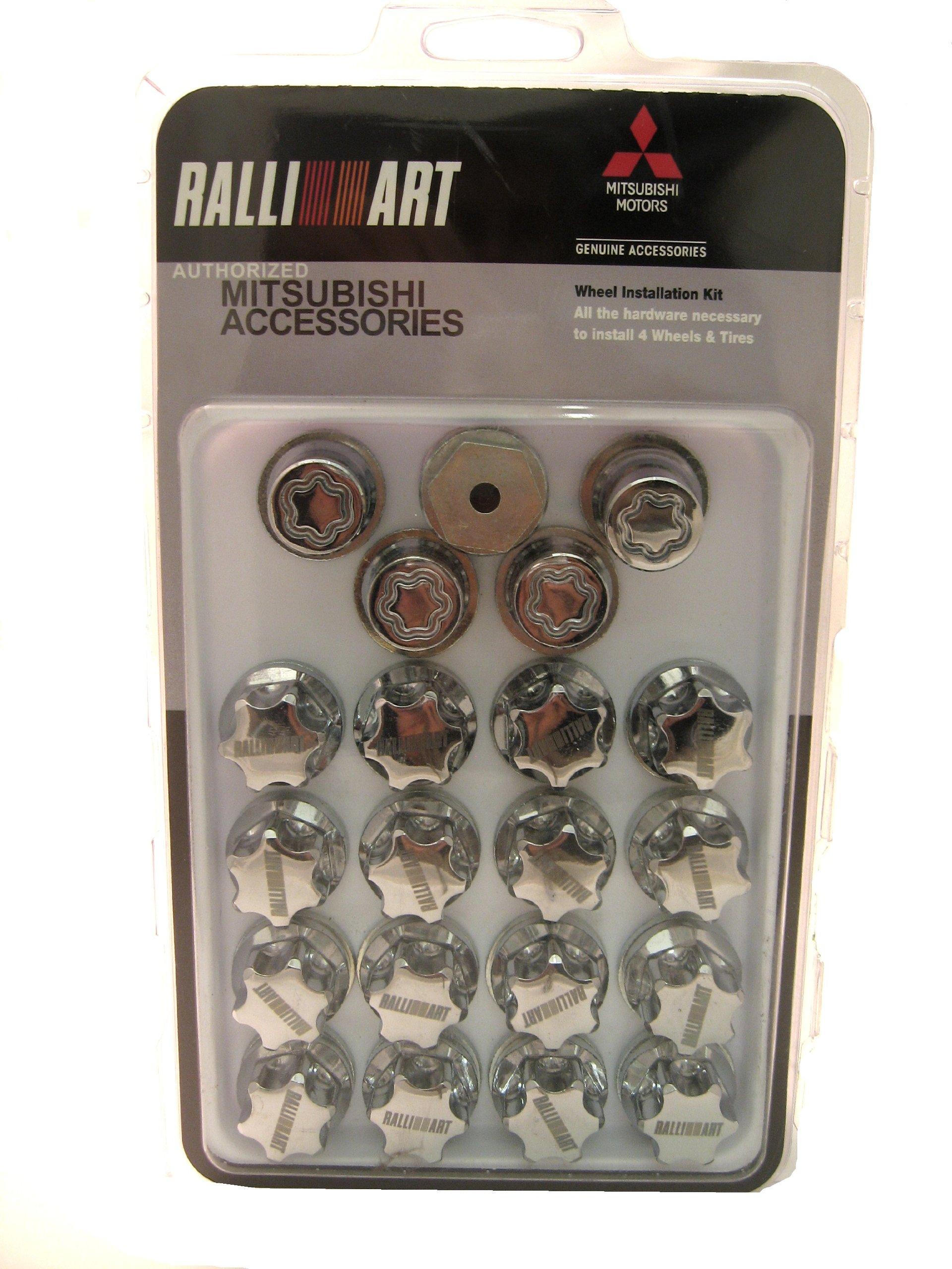 4 Chrome Acorn Wheel Lug Locks 12x1.5 Mitsubishi Eclipse Galant Endeavor Lancer