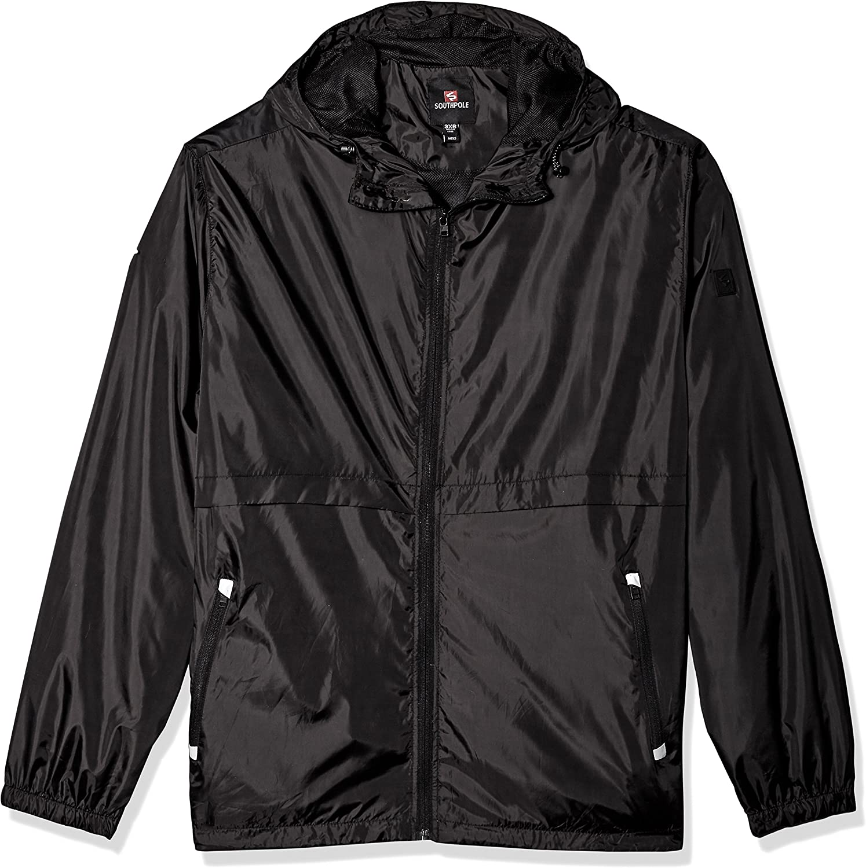 Southpole Men's Water Resistance Hooded Windbreaker Jacket