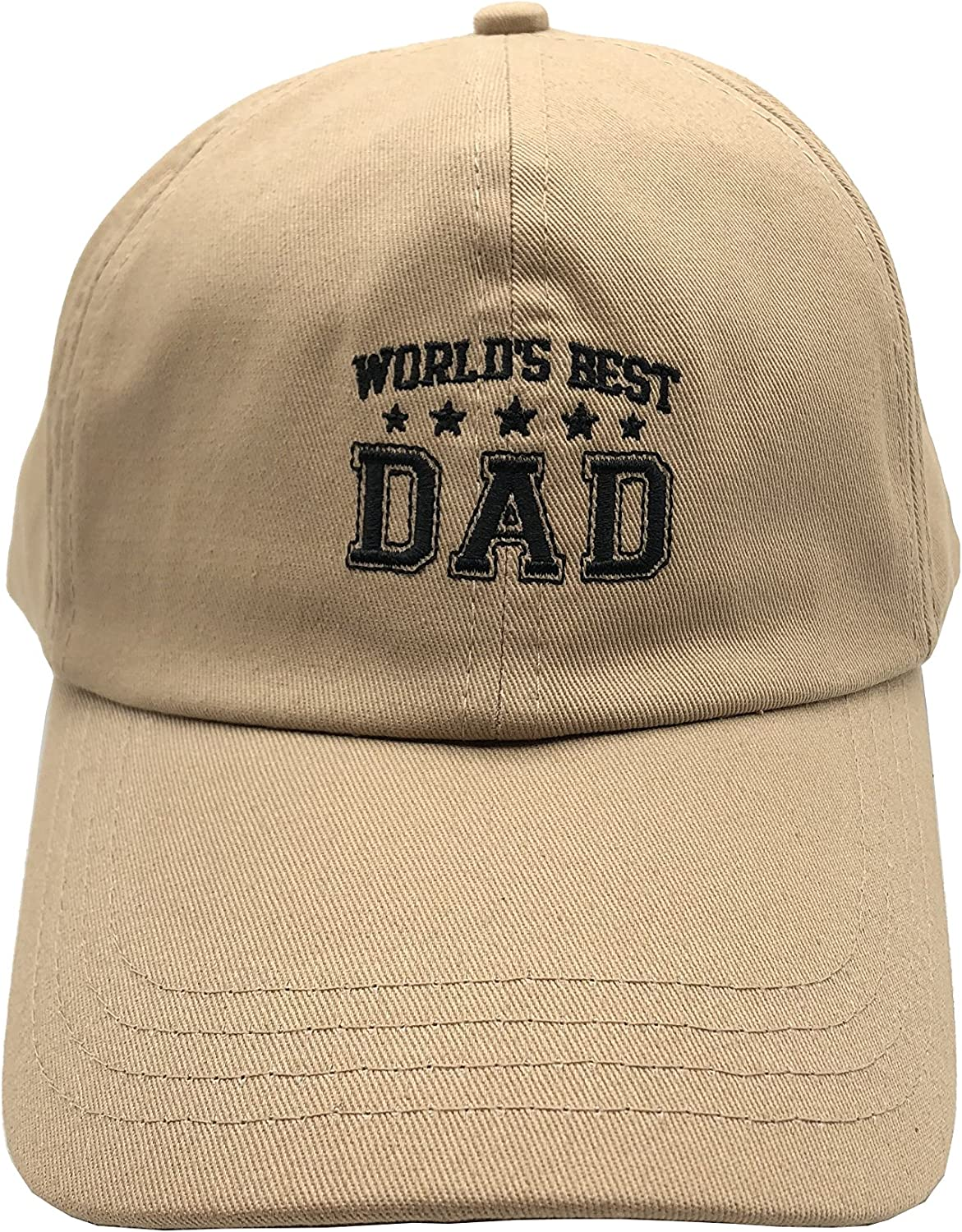 Game Hats Father's Day Greatest Dad Hat 100% Cotton Cap 3D Embroidery Unstructured Beige
