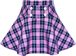 purple plaid skirt girls