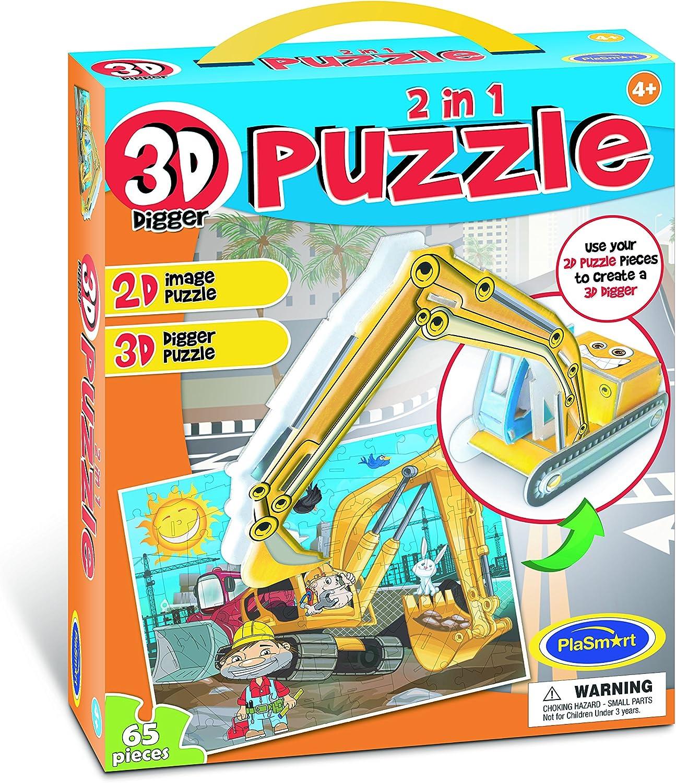 Más asequible 3D 3D 3D Puzzle 2en 1Excavadora Puzzle  Venta al por mayor barato y de alta calidad.