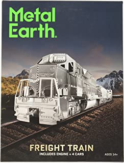 Metal Earth MMG104502609Freight Train Construction Toy