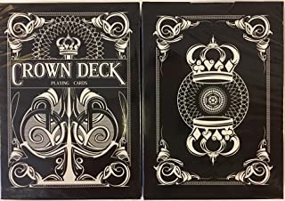 Crown Deck Black Playing Cards Poker Size USPCC Limited Edition