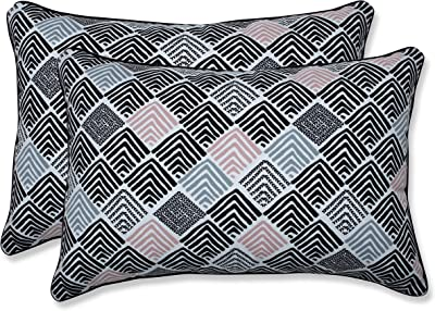 Urban Loft by Westex Shattered Triangles Feather Filled Decorative Throw Pillow Cushion Navy 14 x 26