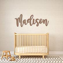 MRC Wood Products Baby Name Sign Personalized Scalloped Edge for Nursery