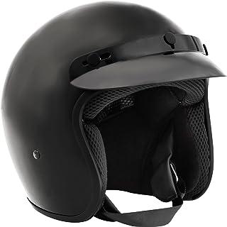 Fuel Helmets SH-OF0015 Unisex-Adult O5 Series Open Face Helmet (Gloss Black, Medium)