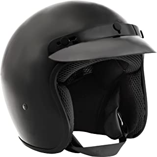 Fuel Helmets SH-OF0014 Gloss Black Small O5 Series Open Face Helmet