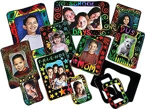 Melissa & Doug Scratch Art Photo Frames: Classroom Pack - 72 Frames in 3 Sizes