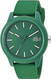 Lacoste Men's 12.12 Quartz TR90 and Rubber Strap Casual Watch, Color: Green (Model: 2010985)