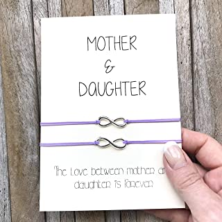 Mother daughter bracelet, Mother daughter infinity bracelet set of 2, Gift from mom to daughter, Gift from daughter, Mommy and me jewelry
