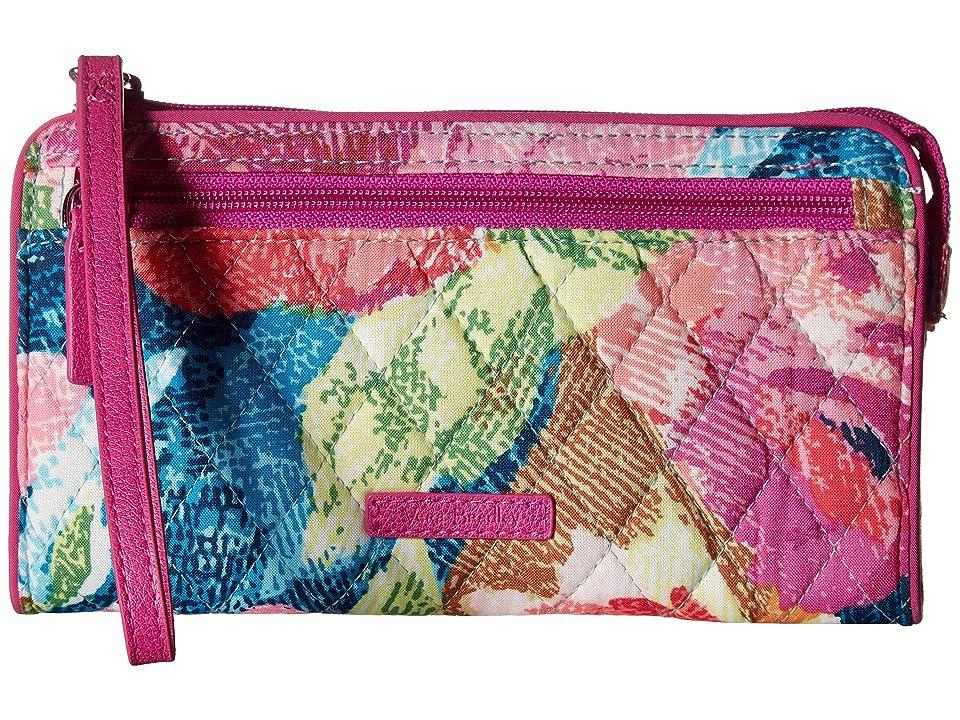 Vera Bradley RFID Front Zip Wristlet (Superbloom) Wristlet Handbags
