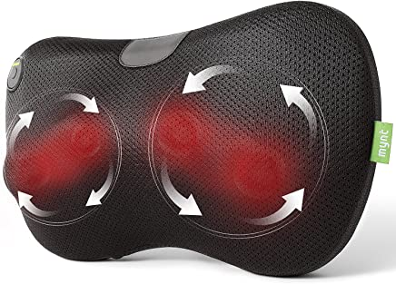 Mynt Shiatsu Massage Pillow with Heat – for Neck, Back, Shoulders, Arms and