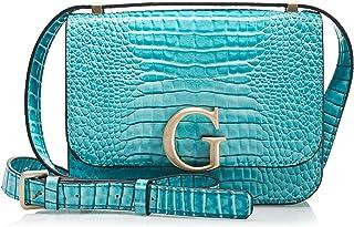 حقيبة تمر بالجسم من جيس قابلة للطي والتحويل وبغطاء قلاب للنساء