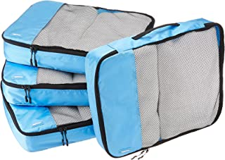 AmazonBasics 4-Piece Packing Cube Set - Large, Sky Blue